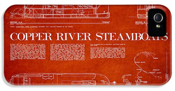 Copper iPhone 5 Cases - Copper River Steamboats Blueprint iPhone 5 Case by Aged Pixel