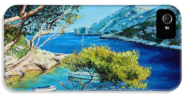 Jeans iPhone 5 Cases - Cove of Morgiou iPhone 5 Case by Jean-Marc Janiaczyk