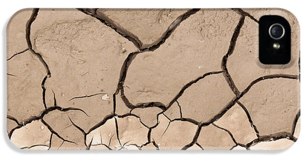 Loam iPhone 5 Cases - Cracked dry earth drought concept background iPhone 5 Case by Stephan Pietzko