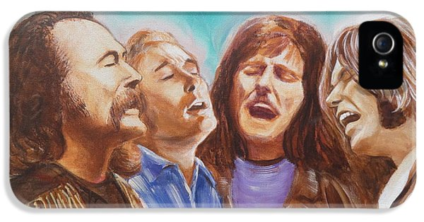 Crosby Stills Nash And Young IPhone 5 / 5s Case by Kean Butterfield