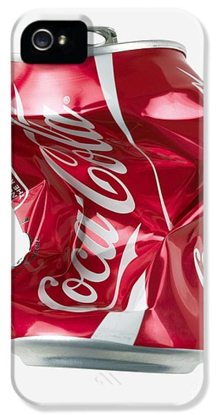 Technological iPhone 5 Cases - Crushed Coca Cola Can Cut-out iPhone 5 Case by Mark Sykes