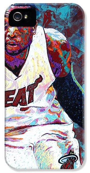 Nba iPhone 5 Cases - D. Wade iPhone 5 Case by Maria Arango