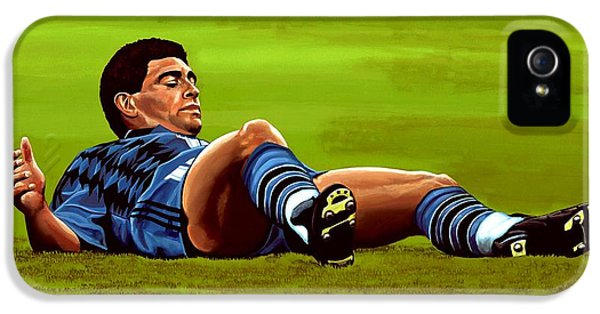 Diego Maradona IPhone 5 / 5s Case by Paul Meijering