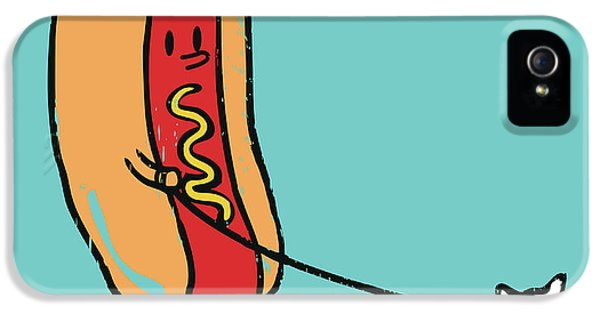Hot Dog iPhone 5 Cases - Double Dog iPhone 5 Case by Budi Kwan