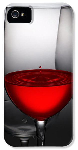 Celebration iPhone 5 Cases - Drops Of Wine In Wine Glasses iPhone 5 Case by Setsiri Silapasuwanchai