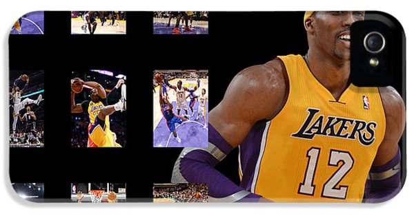 Lakers iPhone 5 Cases - Dwight Howard iPhone 5 Case by Joe Hamilton