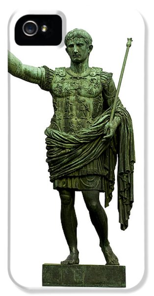 Cut-out iPhone 5 Cases - Emperor Caesar Augustus iPhone 5 Case by Fabrizio Troiani