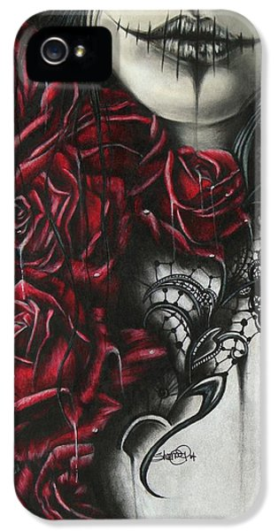 Macabre iPhone 5 Cases - Entrap  iPhone 5 Case by Sheena Pike