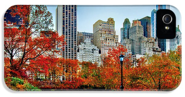 Midtown iPhone 5 Cases - Fall In Central Park iPhone 5 Case by Az Jackson