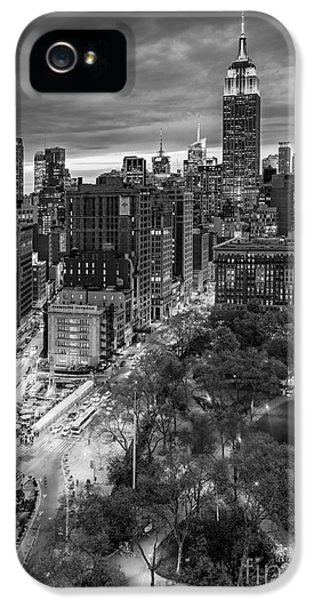 Buildings iPhone 5 Cases - Flatiron District Birds Eye View iPhone 5 Case by Susan Candelario