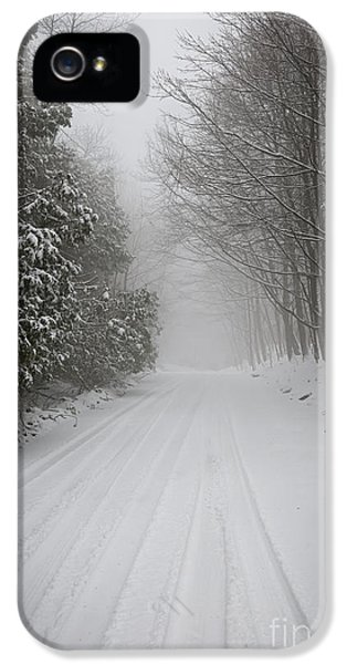 Condition iPhone 5 Cases - Foggy winter road iPhone 5 Case by Elena Elisseeva