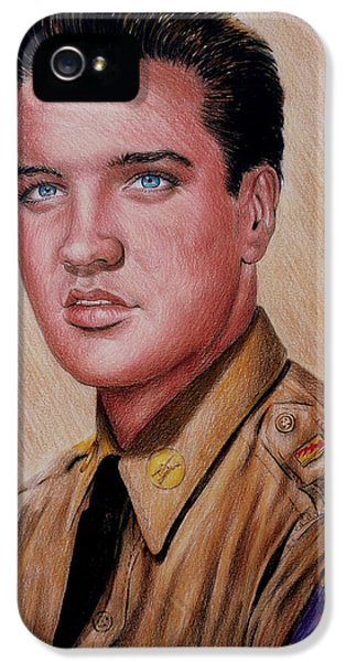 Gi iPhone 5 Cases - G I Elvis  iPhone 5 Case by Andrew Read