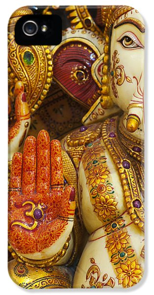 Beliefs iPhone 5 Cases - Ornate Ganesha iPhone 5 Case by Tim Gainey