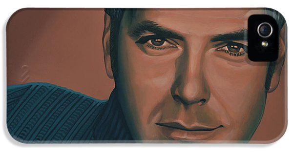 Sight iPhone 5 Cases - George Clooney iPhone 5 Case by Paul  Meijering