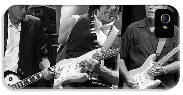 Guitar Legends Jimmy Page Jeff Beck And Eric Clapton IPhone 5 / 5s Case by Marvin Blaine