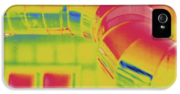 Heating Ducts, Thermogram IPhone 5 / 5s Case by Science Stock Photography