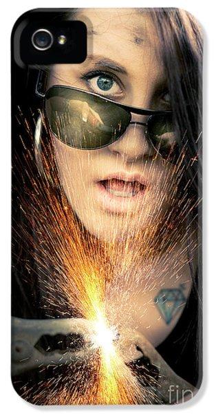 Sparking iPhone 5 Cases - High Voltage iPhone 5 Case by Ryan Jorgensen