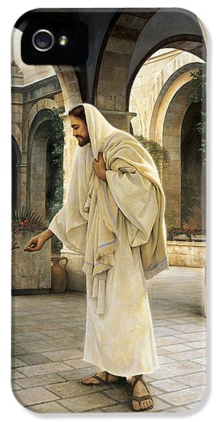Jesus Christ iPhone 5 Cases - In His Constant Care iPhone 5 Case by Greg Olsen