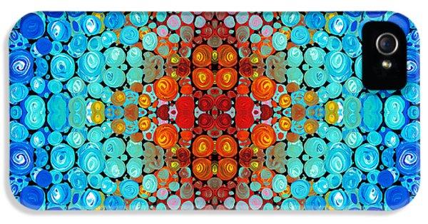 Striking iPhone 5 Cases - Inner Light - Abstract Art By Sharon Cummings iPhone 5 Case by Sharon Cummings