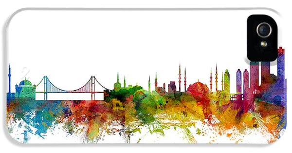 Istanbul Turkey Skyline IPhone 5 / 5s Case by Michael Tompsett