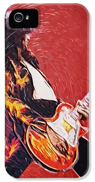 Lead iPhone 5 Cases - Jimmy Page  iPhone 5 Case by Taylan Soyturk