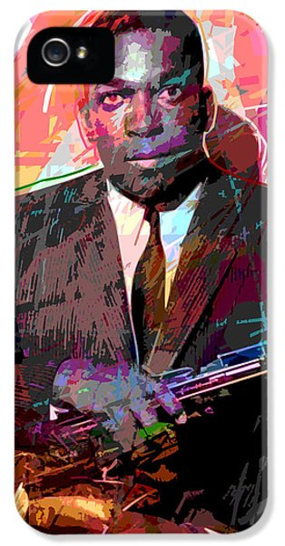 Music Legend iPhone 5 Cases - John Coltrane iPhone 5 Case by David Lloyd Glover