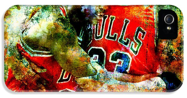 Pippen iPhone 5 Cases - Jordan and Pippen iPhone 5 Case by Brian Reaves