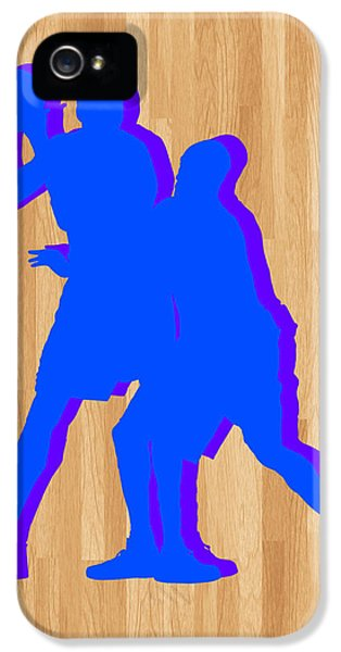 Lakers iPhone 5 Cases - Kevin Durant Kobe Bryant iPhone 5 Case by Joe Hamilton