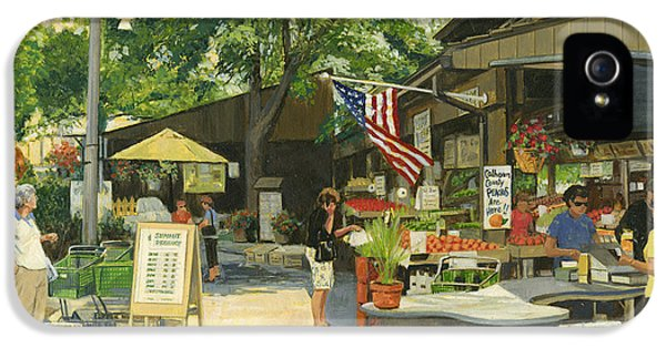 4th Of July iPhone 5 Cases - Kirkwood Farmers Market American Flag iPhone 5 Case by Don  Langeneckert