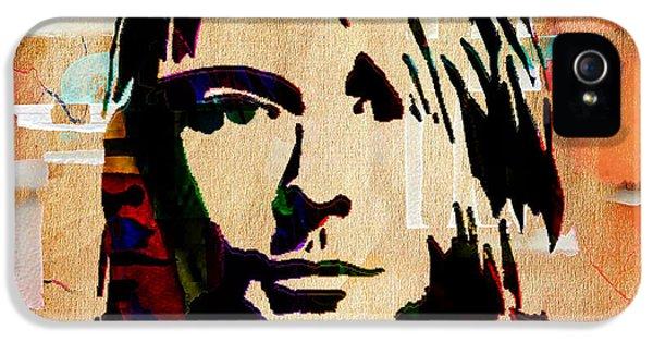 Kurt Cobain iPhone 5 Cases - Kurt Cobain Nirvana Collection iPhone 5 Case by Marvin Blaine