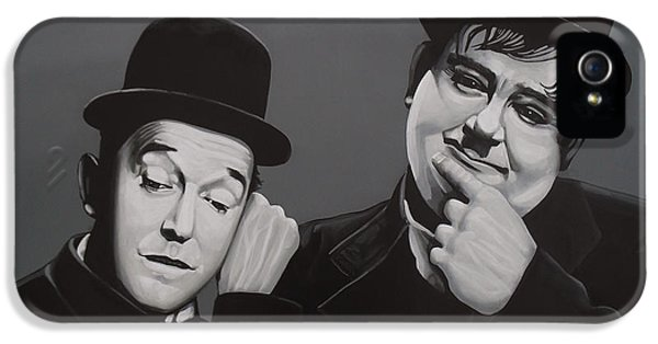 Moviestar iPhone 5 Cases - Laurel and Hardy iPhone 5 Case by Paul  Meijering