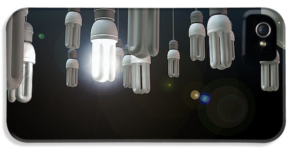Mind iPhone 5 Cases - Leadership Hanging Lightbulb iPhone 5 Case by Allan Swart