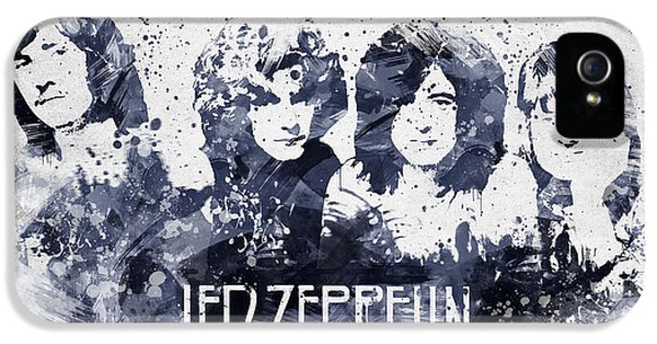 Led Zeppelin Portrait IPhone 5 / 5s Case by Aged Pixel