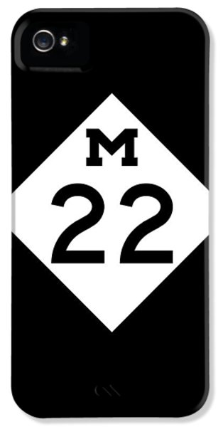 Sign iPhone 5 Cases - M 22 iPhone 5 Case by Sebastian Musial