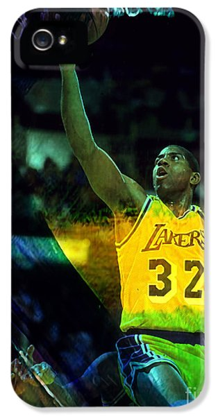 Magic Johnson IPhone 5 / 5s Case by Marvin Blaine
