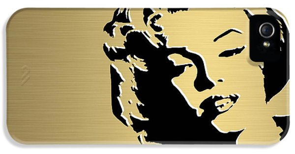 Marilyn Monroe Gold Series IPhone 5 / 5s Case by Marvin Blaine