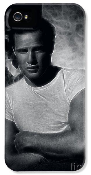 James Gandolfini iPhone 5 Cases - Marlon Brando iPhone 5 Case by Michael Braham