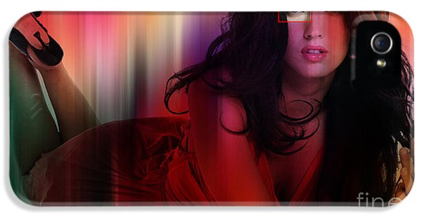 Fox iPhone 5 Cases - Megan Fox Painting iPhone 5 Case by Marvin Blaine