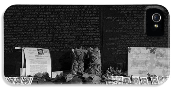 Vietnam War iPhone 5 Cases - Memories at the Wall iPhone 5 Case by Mountain Dreams