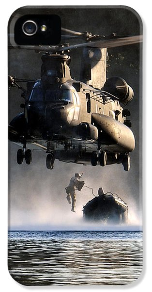 Usaf iPhone 5 Cases - MH-47 Chinook helicopter iPhone 5 Case by Celestial Images