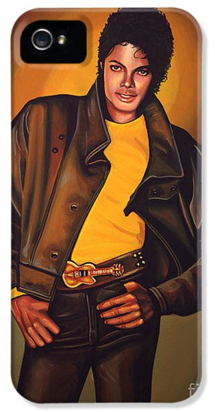 Dirty iPhone 5 Cases - Michael Jackson iPhone 5 Case by Paul  Meijering