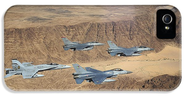Air Jordan iPhone 5 Cases - Military Planes Flying Over The Wadi iPhone 5 Case by Stocktrek Images