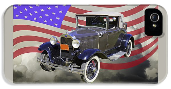 Ford Classic Car iPhone 5 Cases - Model A Ford Roadster Convertible Antique Car iPhone 5 Case by Keith Webber Jr