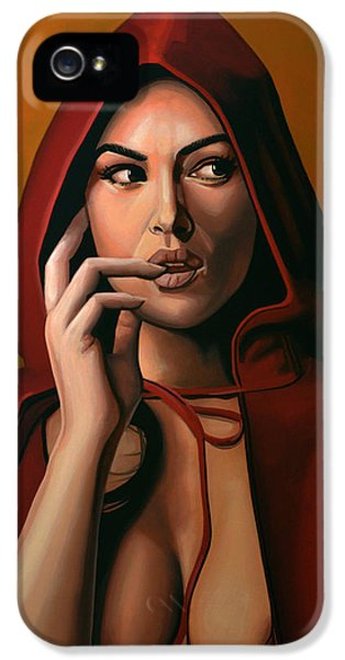 Moviestar iPhone 5 Cases - Monica Bellucci iPhone 5 Case by Paul  Meijering