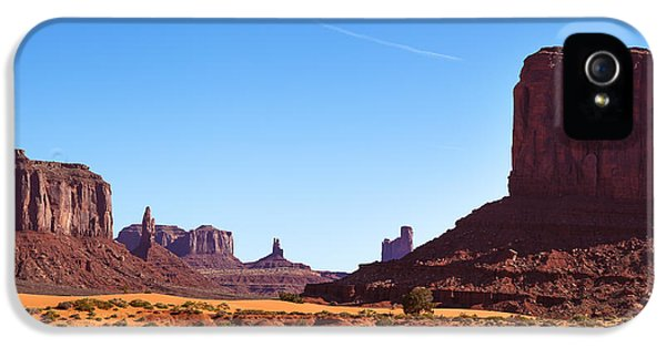 Hot Western iPhone 5 Cases - Monument Valley landscape iPhone 5 Case by Jane Rix