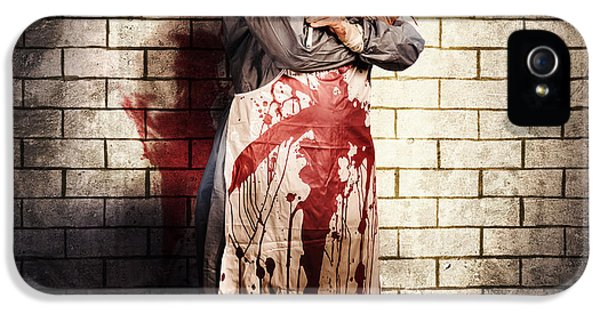 Murderous Monster Clown Standing In Full Length IPhone 5 / 5s Case by Jorgo Photography - Wall Art Gallery
