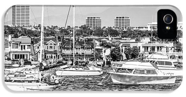 Newport Harbor iPhone 5 Cases - Newport Beach Skyline Panorama Photo iPhone 5 Case by Paul Velgos