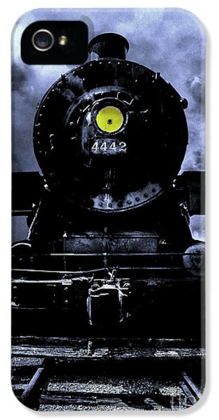 Old Tram iPhone 5 Cases - Night Train Essex Valley Railroad iPhone 5 Case by Edward Fielding