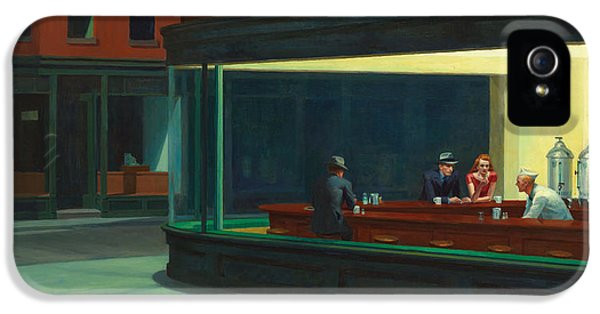 Edward iPhone 5 Cases - Nighthawks iPhone 5 Case by Edward Hopper