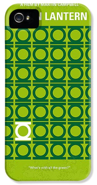 Green iPhone 5 Cases - No120 My GREEN LANTERN minimal movie poster iPhone 5 Case by Chungkong Art